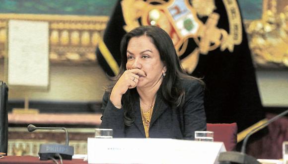 Marisol Espinoza. Congresista pide respeto a investidura presidencial.