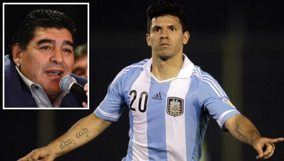 Agüero evitó entrar más en polémica con Maradona. (AFP/Reuters)