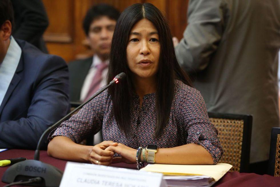La abogada Claudia Hokama, hermana de Daniel Hokama, fue representante legal de Odebrecht. (Congreso de la República)