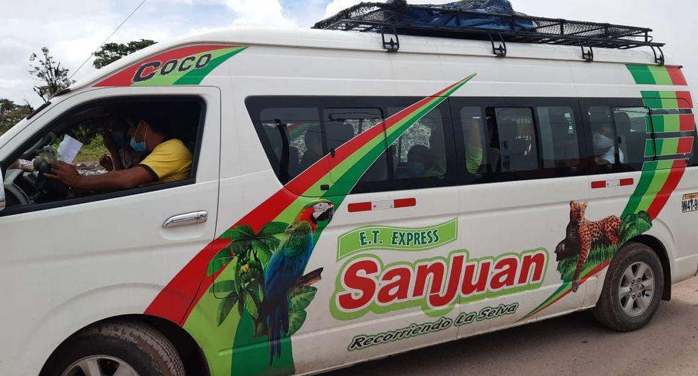 Ucayali: Policía de Carreteras interviene miniván repleta de pasajeros en plena cuarentena