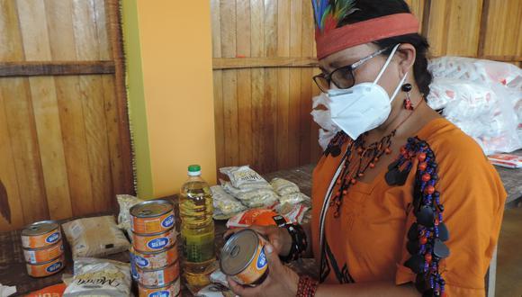 La donación será para más de 37 mil personas.  La distribución se inició en comunidad nativa de Santavankori, en Junín. (Difusión)