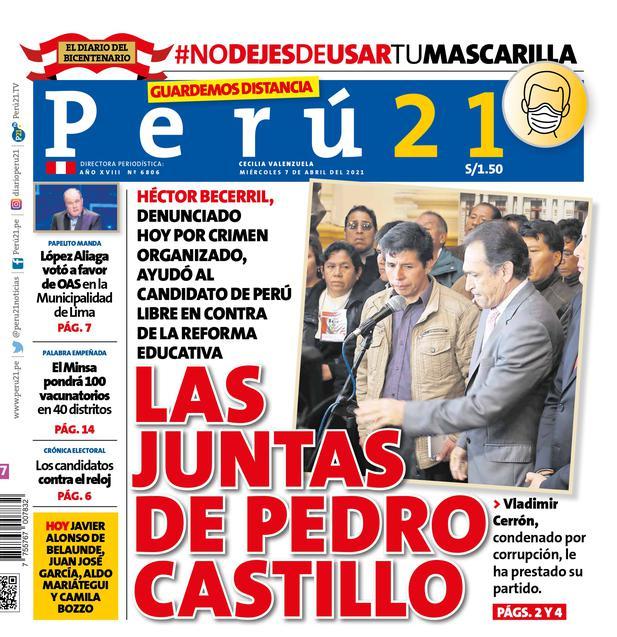 Las juntas de Pedro Castillo.