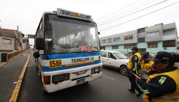 La comuna limeña intensificará operativos contra el transporte informal en calles del Cercado y de la capital. (MML)