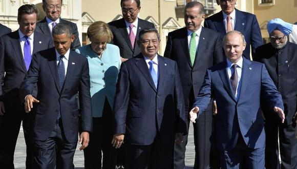 Sin respaldo. Solo 10 países del G20 firmaron documento condenando ataque químico sirio. (AFP)