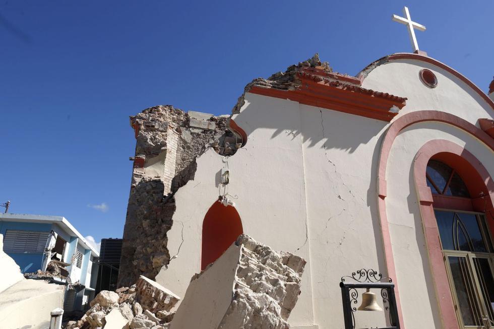 Terremoto en Puerto Rico destruye una histórica iglesia de 184. (EFE)