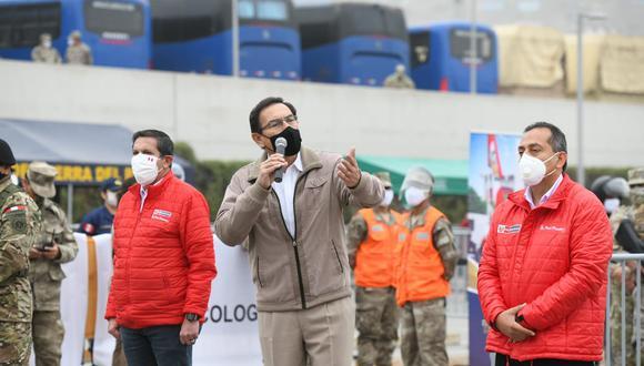 Jefe de Estado supervisó cuarta intervención de la operación Tayta, que brinda protección a las personas más vulnerables contra el COVIDー19 en Villa María del Triunfo. (Foto: Presidencia de la República)