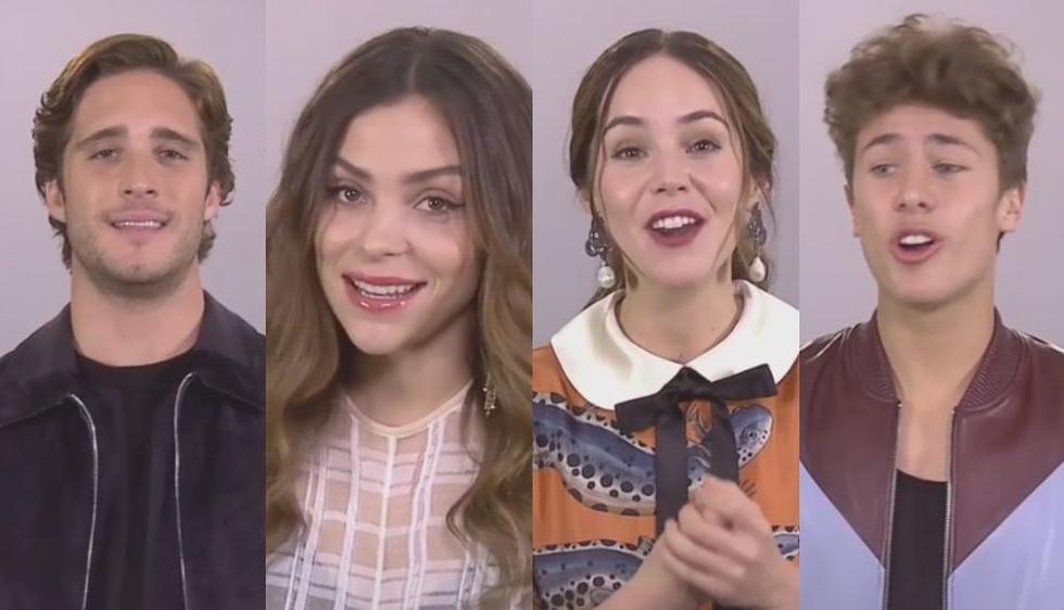 Diego Boneta, Juan Pablo Zurita, Paulina Dávila y Camila Sodi agradecieron al público y a la producción por el éxito de la serie. (Captura)